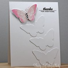 I hope this ombré butterfly kicks the snow on the ground this morning to the curb! Papertrey Ink Make it Monday...on my blog today, link in profile #papertreyink #makeitmonday #butterflies