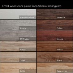 minwax stain chart   Advanta Envee Loose Lay Wood Planks - Garage Flooring LLC