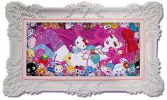 Candy Candy Kitty Dreams by Blush-Art on DeviantArt Kawaii Art, Kawaii Anime, Hello Kitty Art, Cute Japanese, Finger Painting, Sanrio, Art Girl, Illustration Art, Illustrations