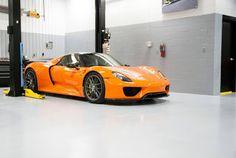 Orange #Porsche 918 Spyder