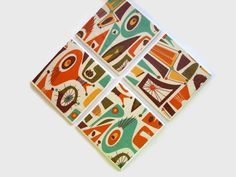 Hey, I found this really awesome Etsy listing at https://www.etsy.com/listing/223383951/fabric-tile-coasters-mid-century-modern