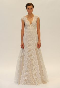 Naked Lace A-Line Wedding Dress | Lela Rose Fall 2014 | Kurt Wildering/The Knot | The Knot Blog