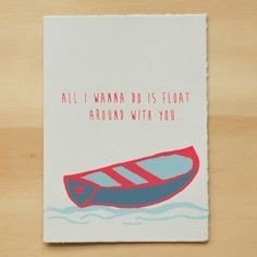 Gold Teeth Brooklyn / Screenprinted cards: Float Around With You