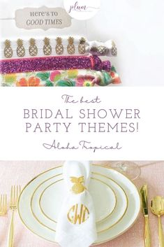 Plann the perfect bridal shower! Here are the BEST themes for 2021 / Bridal shower ideas / How to plan a Bridal Shower / Bridal Shower Inspiration / Lemon Bridal Shower / Garden / Southwest / Aloha / Something Blue / Tiffany's / Chanel / Adventure Awaits / Pearls of Wisdom Bridal Shower / Harry Potter / Friends Series / Pastel & Floral / Blush & Gold / Fiesta / Bohemian / Tea Party / Black & White Glam / Vogue Lingerie / Bubbles & Besties / Vintage Glamour / Scooped Up / Mint to Be / Rustic… Bridal Shower Party, Bridal Shower Rustic, Bridal Shower Invitations, Hawiian Party, Bachelorette Themes, Hot Wheels Party, Tropical Bridal Showers, Friends Series, Shower Inspiration