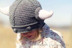 Best birthday present ever. Super warm crocheted viking hat [etsy].