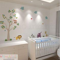 Adesivo de Parede Safari   Decoração de Quarto Infantil e Bebê.http://www.mimoinfantil.com.br/lojavirtual/12-todos-produtos