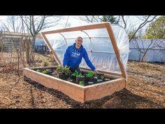 How to Build a HINGED HOOPHOUSE for a Raised Bed Garden - YouTube Raised House, Raised Garden Beds, Raised Beds, Raised Gardens, Permaculture, Nautical Bathroom Decor, Cold Frame, Garden Boxes, Winter Garden