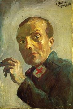 Weimar: Art of the First World War; Max Beckmann, Self-Portrait as a Nurse, 1915 Max Beckmann, Max Ernst, Picasso, Carl Friedrich, George Grosz, Illustrator, Degenerate Art, Avantgarde, Expressionist Artists