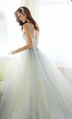 Something Blue Wedding Dresses for Cinderella: Sophia Tolli Wedding Dress for Cinderella #wedding #weddingdress