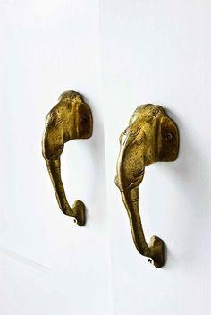 brass elephant pulls