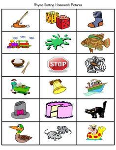 math worksheet : 1000 images about rhyming games on pinterest  rhyming words  : Kindergarten Rhyming Worksheets Cut And Paste