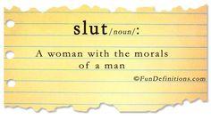 definitions | Fun Definitions - slut