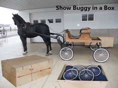 Horse Trailer Compatible Show Buggy | A show buggy that packs up into a tack box!