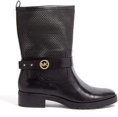 shopstyle.co.uk: MICHAEL Michael Kors Daria Mk Buckled Flat Boots
