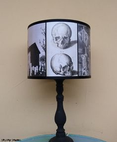 Da vincis creed skull pendant lamp shade lampshade skull lamp skull lamp shade lampshade requiescat in pace by spooky shades aloadofball Images