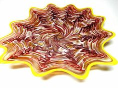 Hand Blown Glass Art Platter Bowl Wall Hanging 109 | eBay