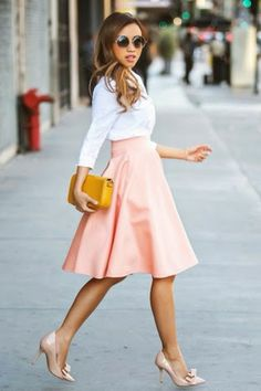 Work some patterns into your office attire with a playful pencil skirt.
