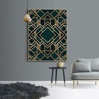 Abstract Cubic Retro Art Deco Wall Art Gold Geometric Modern Nordic Fine Art Canvas Prints For Office Home Interior Living Room Dining Room Decor Art Deco Wall Art, Motif Art Deco, Art Deco Pattern, Canvas Wall Art, Wall Art Prints, Canvas Prints, Art Deco Mirror, Art Art, Living Room And Dining Room Decor