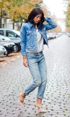 Street style look com all jeans