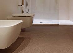 Pavimento in resina in bagno #pulizia #resina #pavimento