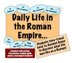 Daily Life in the Roman Empire: Experience 7 areas of life in Ancient Rome! product from Mr-Educator on TeachersNotebook.com