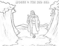 moses parts the sea craft - Google Search