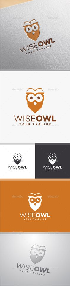 Owl Logo — Photoshop PSD #fly #head • Available here → https://graphicriver.net/item/owl-logo/10031520?ref=pxcr