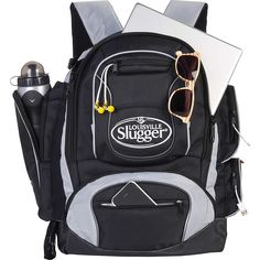 Louisville Slugger Clubhouse Collection Back Pack, Black => Quickly view this special product, click the image : Travel Backpack Best Hiking Backpacks, Day Backpacks, Travel Backpack, Backpack Bags, Fashion Backpack, Carry On Size, Softball Equipment, Louisville Slugger, Camping And Hiking