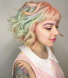 dream💫weaver Cynthia Guerra . . . . . . . . . . . . . . #rainbowhair #rainbowsherbert #pastelhair #btconeshot_rainbow16 #yellowhair #peachhair #pinkhair #orangehair #balayage #lasvegasbalayage #lasvegashairstylist #lasvegassalon #vegasstylist #vegashair #vegasnay #icecreamhair #hairpainting #lasvegashairpainting #beachwaves #beachhair #rainbowlove #vegaslivin #hairlove #hairtalk #hairlife