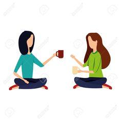 businesswomen drinking coffee seated in lotus position vector illustration design Illustration , Lotus Position, Florist Logo, Drinking Coffee, Typography Fonts, Cool Fonts, Business Women, Social Media Marketing, Keys