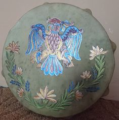 Hand painted shaman drums by maya40 on DeviantArt
