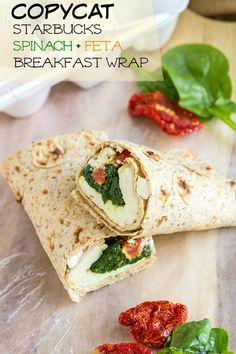 Copycat Starbucks Spinach and Feta Breakfast Wrap