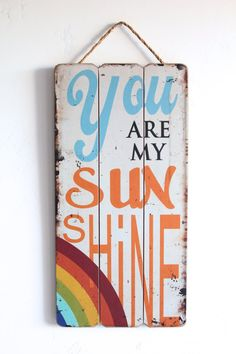You Are My Sunshine Wall Art, Sunshine Sign, Rustic, Vintage Look, Home Decor Sign Quote, Nursery Decor/Art, Wall Decor, You are my Sunshine on Etsy, $34.95