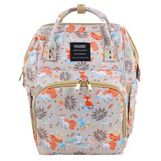 Upgrade Version Maternity Baby Diaper Bags Backpack Fox/Bear Printed Large Capacity Travel Stroller Nursing Bag for Baby Care Baby Girl Diaper Bags, Cute Diaper Bags, Twin Baby Boys, Baby Boy Swag, Buy Backpack, Diaper Bag Backpack, Sleeping Baby Quotes, Baby Announcement Shoes, Hindu Baby Girl Names