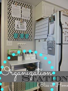 DIY Monday: Organization Station. I am going to organize the crap out of my house this fall when the kids go back to school.