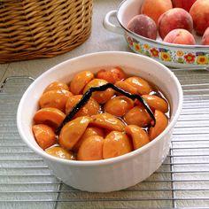Bourbon Poached Apricots