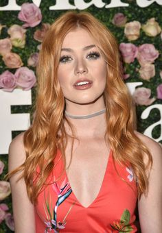 Katherine McNamara Long Wavy Cut - Katherine McNamara was sweet and chic with her long wavy 'do at the 2017 Face of the Future event.