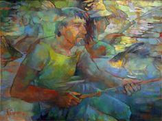 "Saatchi Art Artist Gala Sorokhan; Painting, ""Dnipro dream"" #art"