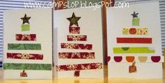 Camp Slop: Handmade Christmas Cards (by kids) and Teacher Gifts Simple Christmas Cards, How To Make Christmas Tree, Homemade Christmas Cards, Holiday Crafts For Kids, Preschool Christmas, Christmas Cards To Make, Christmas Projects, Kids Christmas, Handmade Christmas