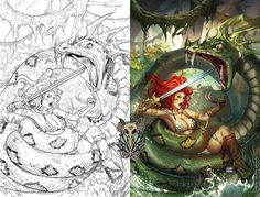 A professional penciller working on comic covers for companies like zenescope and big dog ink, as well as a professional colorist for Marvel and DC. Tools I use for drawing are a mechanical draftin...