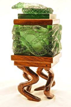 https://www.etsy.com/listing/212661163/cast-glass-emerald-snake-box-ooak