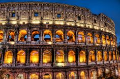 The Colloseum in Rome, Italy