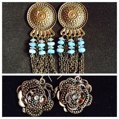 BUNDLE (2) earrings! ✨ Two lovely earrings! Top: made from Guatemala;; Bottom: floral  earrings, both need worn & both very light weight! BOTH together for the price posted! ✨ Jewelry Earrings