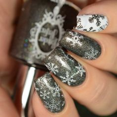 Powder perfect christmas 2017 collection + stamping plates n Winter Nail Designs, Christmas Nail Designs, Cute Nail Designs, Holiday Nail Art, Christmas Nail Art, Christmas 2017, Stamping Plates, Nail Stamping, Cute Nails