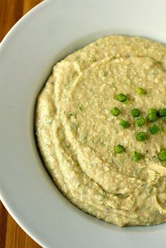 White Bean-Garlic Scape Dip