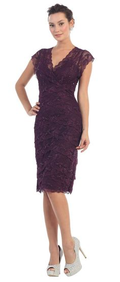 All Lace Short Cocktail Formal Dress