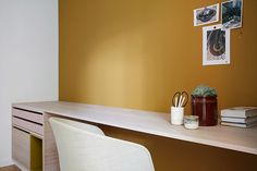 Nyfelt og Strand Interiørarkitekter, enebolig Tønsberg, spesialinnredning, kontor Decor, Furniture, Interior, Floating Nightstand, Table, Home Decor, Office, Nightstand, Interior Design