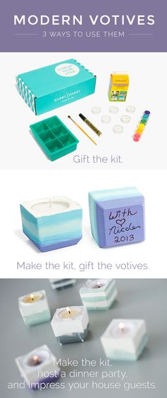 3 clever ideas for your DIY modern votives