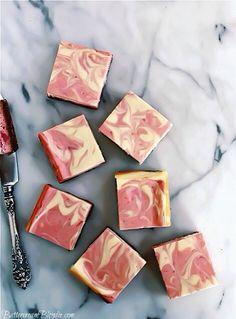 Strawberry Rhubarb Cheesecake Bars | ButtercreamBlondie.com