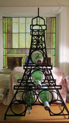 Eifell Tower bottle  holder by whitecottageinhills on Etsy, $95.00